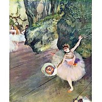 Dancer With A Bouquet Of Flowers (The Star Of The Ballet) By Degas - Fine Art Print
