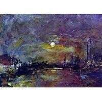 Dusk On The Port Of Le Havre By Boudin - Fine Art Print