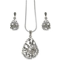 Xcite Beautiful Pendant Set Studded With Marcasite Stones - XPE178