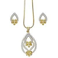 Xcite Elegant Floral Golden Pendant Set - XPE172