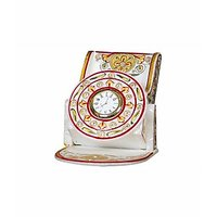Anshul Fashion Kundan Work  Handicraft Marble Mobile Stand With Clock
