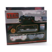 Mini Train Battery Operated Fright Car Goods Track Set For Kids
