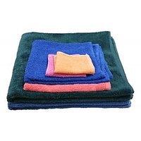 Carah Premium Cotton Bath, Hand & Face Towel Set Of 6