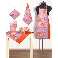 VUGIS Cotton Designer Kitchen Linen Set (6 Pcs)
