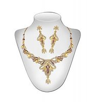 Panini Golden And White Alloy Necklace Set _2725