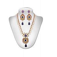 Panini Multi Colour Stones Alloy Necklace Set_3191
