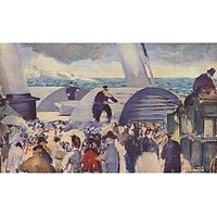 Embarkation Of The Folkestone By Manet - Fine Art Print