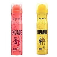 Engage Deo (Blush, Tease) Pack Of 2- 165ml Each( Women) - 74598720