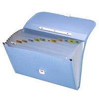 Trio EPL12FHL Expanding Handle Lock File 13 Pockets FC (Set Of 1, Blue)