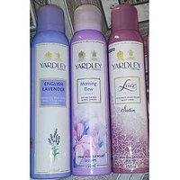 Yardley Deo Combo For Woman(english Lavender+lace Satin+morning Dew)-150ml Each