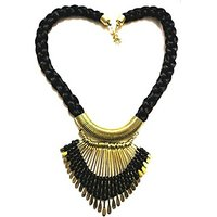 Anshul Fashion Black Metal Thread Necklace