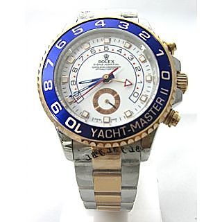 1:1 Version Yacht-Master II Automatic Two Tone With White Watch For Men