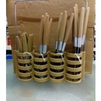Dianning Table Spoon Set With Ss Hollder /wooden Finish