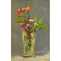 Carnations And Clematis In A Crystal Vase By Edouard_Manet - Canvas Art Print