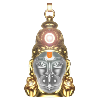 Shiv Jyotish Kendra Hanuman Chalisa Yantra With Gold Plated Chain - Buy One Get