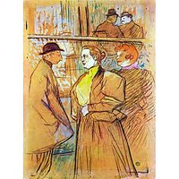 At The Moulin Rouge By Toulouse-Lautrec - Fine Art Print