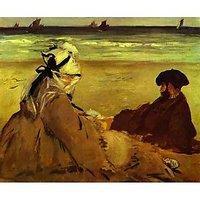 On The Beach By Edouard Manet - Fine Art Print