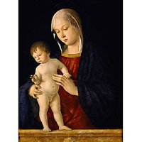 Madonna And Child By Bellini - Museum Canvas Print