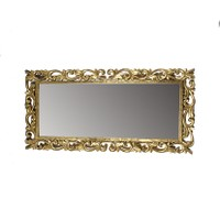 Antique Gold Leaf Curved Frame Mirror- Small