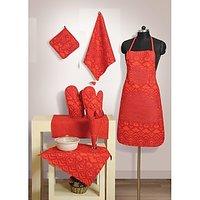 Swayam Kitchen Linen Set 8 Pcs In Orange