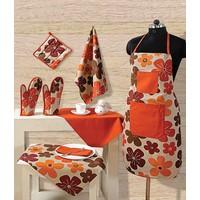 Swayam Kitchen Linen Set 8 Pcs In Rust