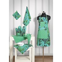 Swayam Kitchen Linen Set 8 Pcs In Green
