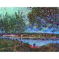 Way Of The Old Ferry By Sisley - Fine Art Print