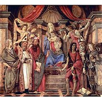 Madonna Throne Of Angels And Saints By Botticelli - Museum Canvas Print