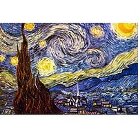 Starry Night By Van Gogh - Fine Art Print