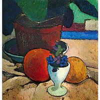 Still Life With Lemon, Orange And Tomato By Paula-Modersohn-Becker - Museum Canvas Print