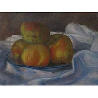 Apples And Pears By Renoir - Museum Canvas Print