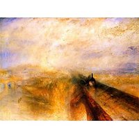 Rain Steam And Speed The Great Western Railway By Turner - Canvas Art Print