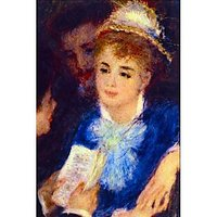 The Perusal Of The Part By Renoir - Fine Art Print