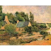Washerwomen At Pont-Aven By Gauguin - Canvas Art Print