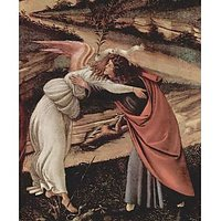 Birth Of Christ (Mystic Birth) Detail 2 By Botticelli - Museum Canvas Print