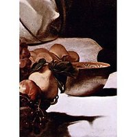 Christ In Emmaus Detail Fruits By Caravaggio - Museum Canvas Print