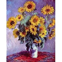 Still Life With Sunflowers By Monet - Canvas Art Print