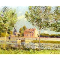 Houses On The Banks Of The Loing By Sisley - Fine Art Print