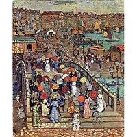 Ponte Della Paglia, Venice By Prendergast - Canvas Art Print