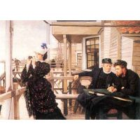 The Daughter Of The Master By Tissot - Canvas Art Print