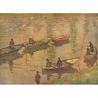 Fishermen On The Seine At Poissy By Claude_Monet - Fine Art Print