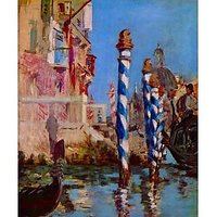 Grand Canal In Venice By Edouard Manet - Fine Art Print