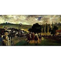 Race At Longchamp By Edouard_Manet - Fine Art Print