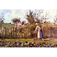 In The Orchard By Pissarro - Fine Art Print