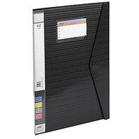 Trio 520DBF Display File Resume 20 Pockets FC (Set Of 2, Black)