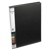 Trio 601A Display File 20 Pockets A4 (Set Of 2, Black)