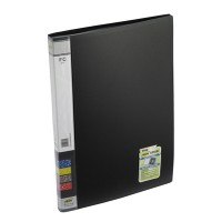 Trio 601F Display File 20 Pockets FC (Set Of 2, Black)