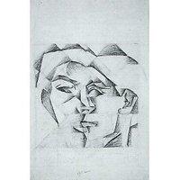 Head Of A Man (Head Of A Woman) By Juan Gris - Canvas Art Print
