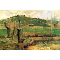 Look At Sainte Margueritte Near Pont-Avon By Gauguin - Museum Canvas Print