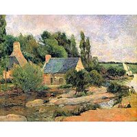 Washerwomen At Pont-Aven By Gauguin - Fine Art Print